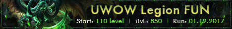 New FUN Legion 7.2.0 Lvl 110, iLvl 850